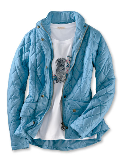 Barbour-Steppjacke 'Flyweight Cavalry' in Blue Heaven
