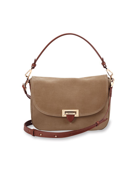 Saddle Bag von Aspinal in Soft Taupe