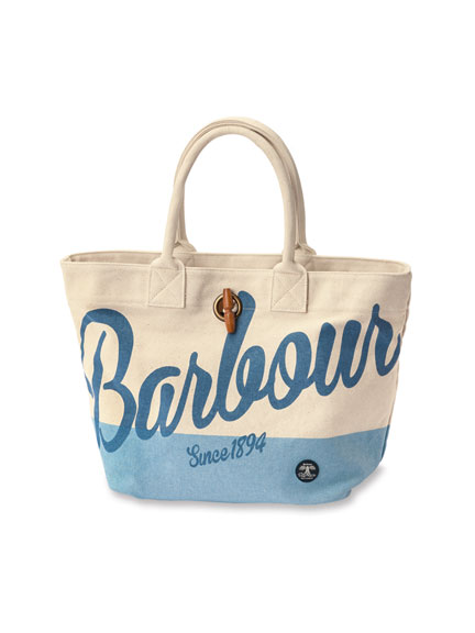 Barbour Sommertasche aus Canvas in Ecru