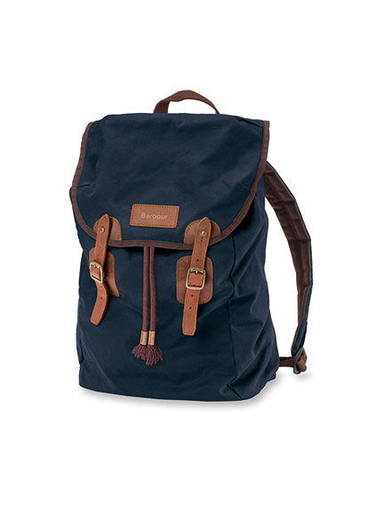 Barbour 'Wax-Rucksack in Navy