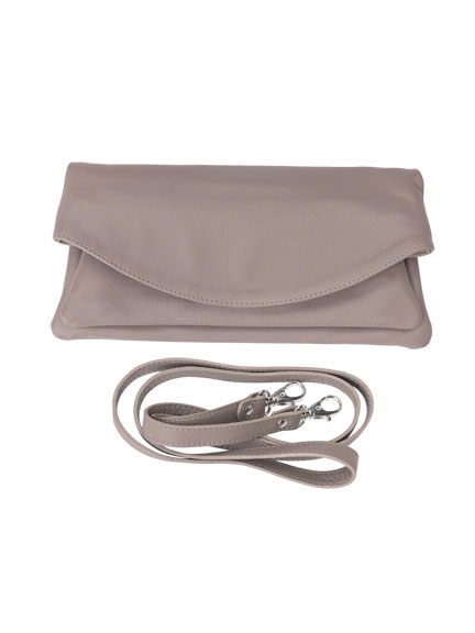 Lederclutch 'London' in Taupe von Kensington