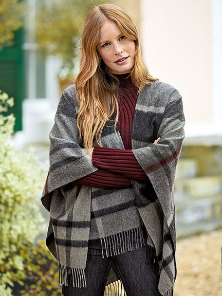 Barbour Wollcape im 'Winter Tartan'-Dessin