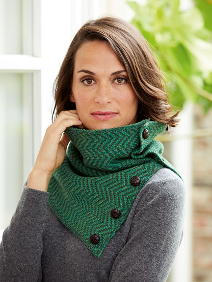 Irischer Strickloop in Irish Green von Carraig Donn