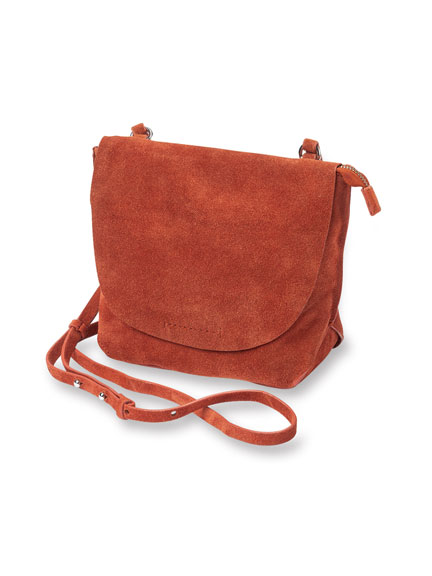 Veloursledertasche in Burnt Orange von Clarks