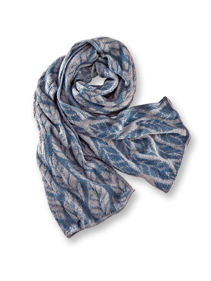 Irischer Strickschal 'Hickory' in Denim Blue von McKernan