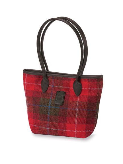 Schultertasche aus 'Harris Tweed' in Red Check