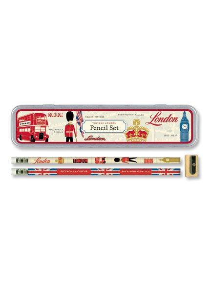Pencil Box 'Vintage London'