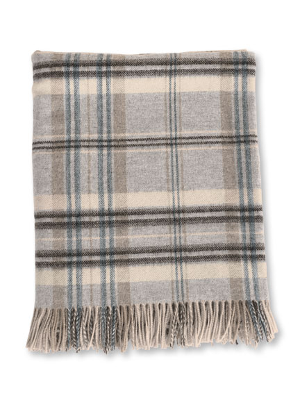 Plaid 'Heather Grey' von Bronte by Moon