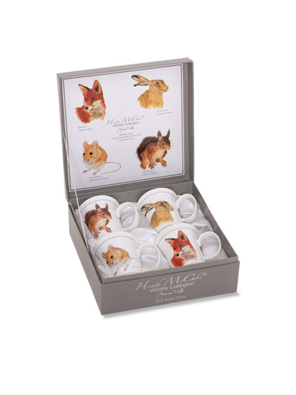 Becherset 'Wildlife Collection' in edler Geschenkpackung