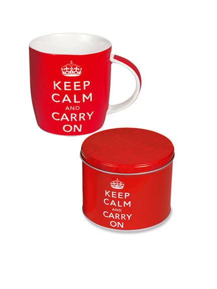 Becher 'Keep calm and carry on'