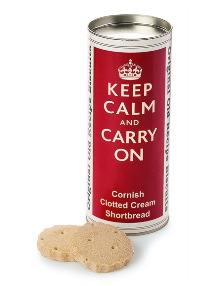 Keks-Dose 'Keep calm and carry on'