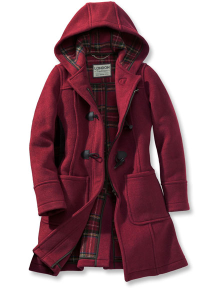 Original englischer Dufflecoat in Rot von London Tradition