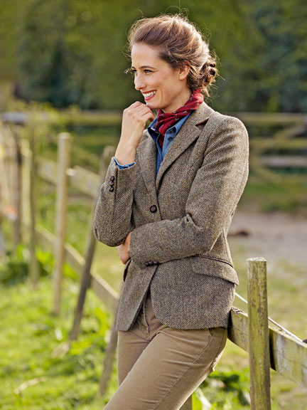 Fischgrat-Blazer aus Harris Tweed
