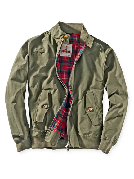 Baracuta-Blouson G9 Harrington in Oliv