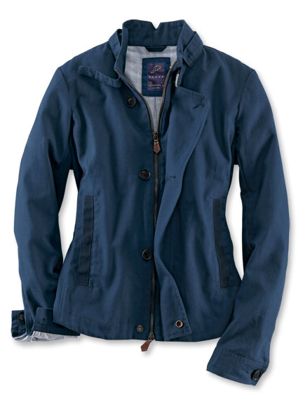 Canvas-Blouson 'Charlotte' in denimblau