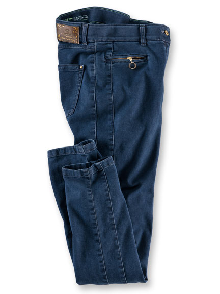Club-of-Comfort-Jeans in schmaler Optik in Blue Denim