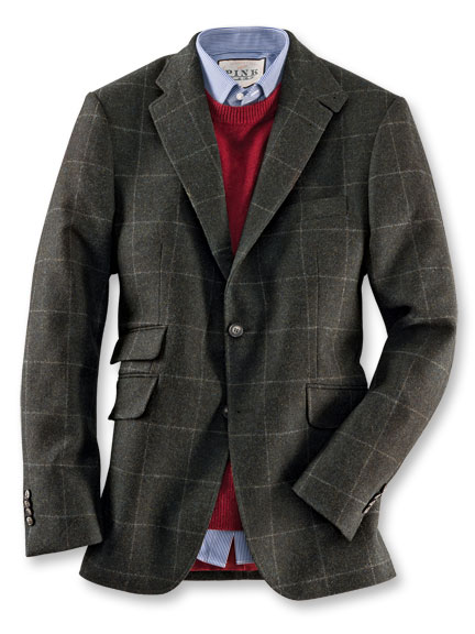 Hunting Tweed-Sakko von Kinbury in Hunting Green