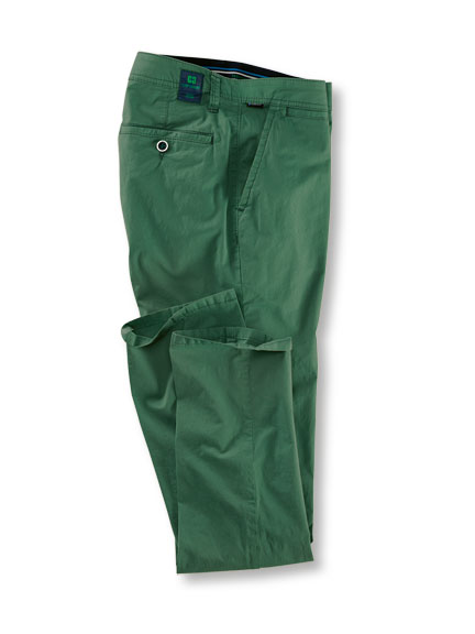 Sommerhose aus 'Pima Cotton' in British Green von Club of Comfort