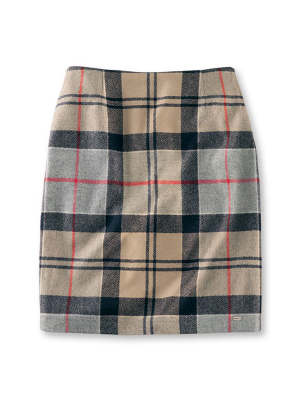 Barbours 'Pencil Skirt' in Dress Tartan