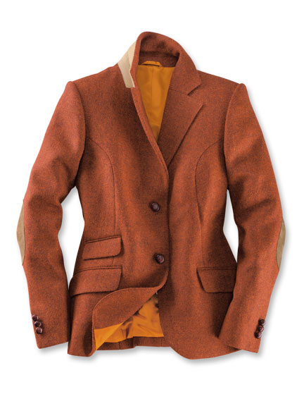 Harris-Tweed-Blazer 'Highland' in Brick Red