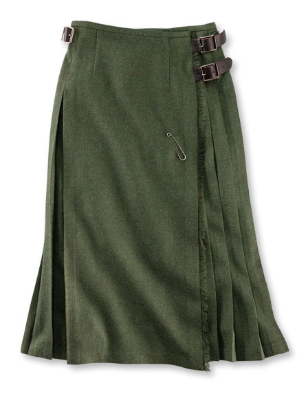 Maxikilt 'Greencastle' in Hunter Green von O'Neil of Dublin
