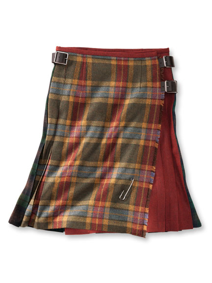 Patchwork-Midikilt in Multicolor von O'Neil