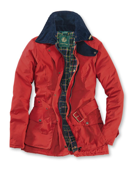 Country-Wachsjacke 'Kensington' in Brick Red