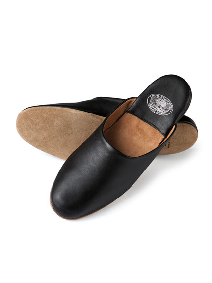 Leder - Slipper 'William' von Draper of Glastonbury