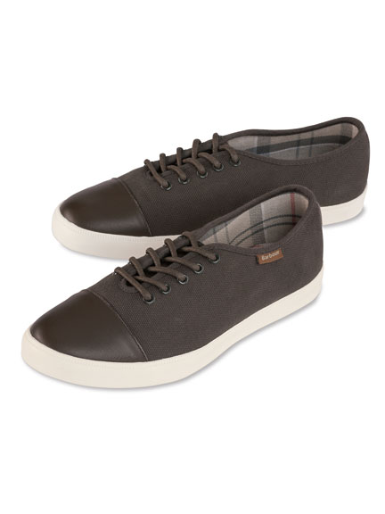 Barbour Canvas-Sneaker in Oliv für Damen