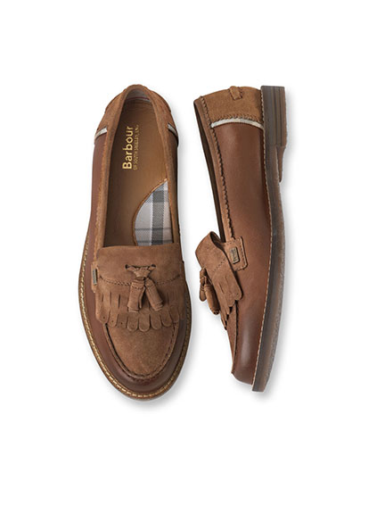 Country-Loafer von Barbour in Marone für Damen