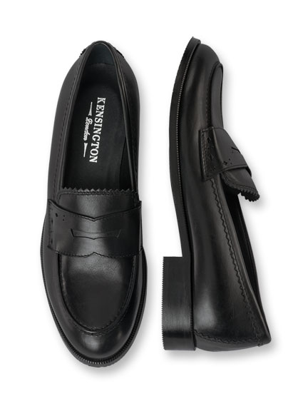 College-Slipper in Schwarz von Kensington