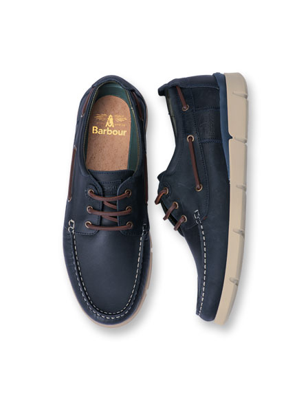 Barbour-Boatshoe 'George' in Navy