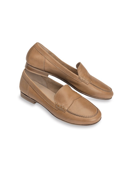 Leder-Loafer in Camel von Kensington